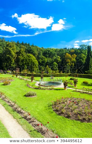 palace in kamenice nad lipou with garden czech republic stock photo © phbcz