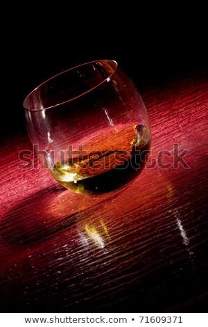 Whiskey On Red Glasstable Stock fotó © Francesco83