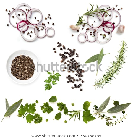 fresh herbs and black peppercorns stock photo © digifoodstock