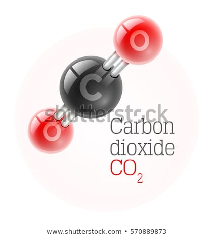 Carbon dioxide molecules Stock photo © bluering
