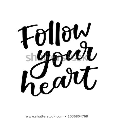 сердце каллиграфия любви дизайна Сток-фото © Anna_leni