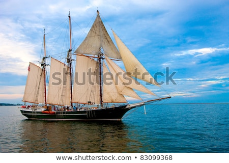 beautiful old dutch sailing boat on sea stock photo © hofmeester