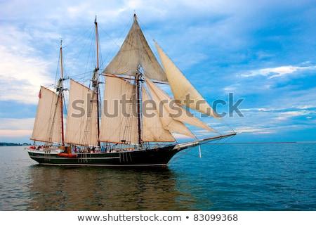 beautiful old dutch sailing boat on sea stock photo © hofmeester