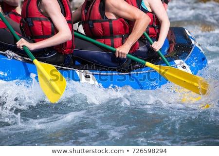 Meisje vlot zee illustratie vrouwen zomer Stockfoto © adrenalina