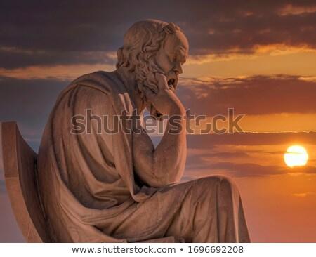 Dramatisch denker man denken vergadering Stockfoto © feedough