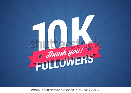 social media thank you followers template  Stock photo © SArts
