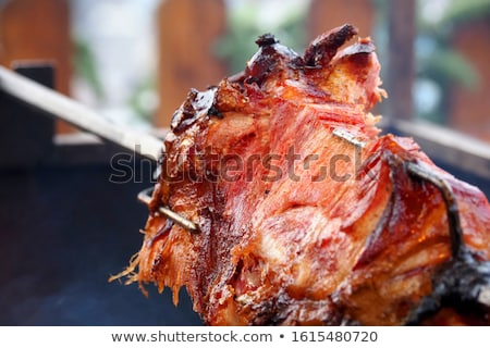 豚 唾 伝統的な 屋外 食品の調製 ストックフォト © stevanovicigor