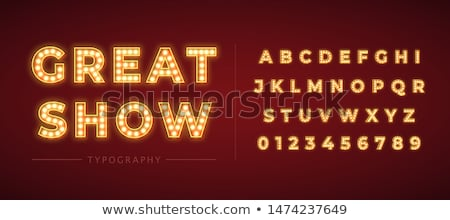 ретро · свет · шрифт · письма - Сток-фото © m_pavlov