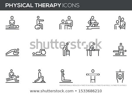 Fizioterápia nő fizioterápia profi orvos sport Stock fotó © racoolstudio