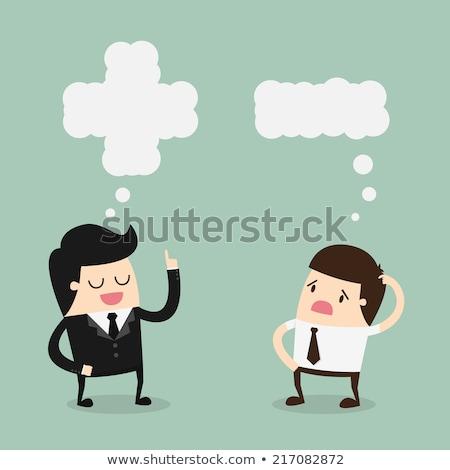 Think Positive - Cartoon Green Text. Business Concept. Stock photo © tashatuvango