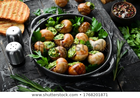 french escargot with butter and parsley Stock photo © M-studio