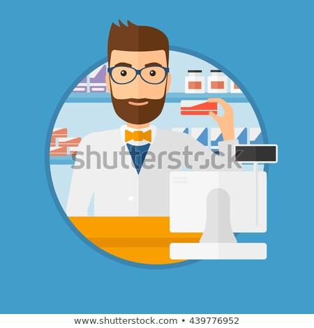 farmacêutico · contrariar · numerário · caixa · jovem · médico - foto stock © RAStudio