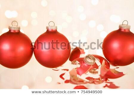 сломанной Рождества безделушка украшение Сток-фото © IS2