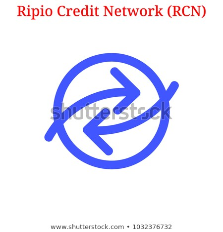 Ripio Credit Network Virtual Currency - Vector Illustration. Stock photo © tashatuvango