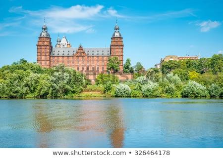 palacio · Frankfurt · árbol · forestales · jardín · arte - foto stock © vichie81