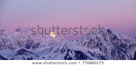 Kış manzara dağlar akşam tan gökyüzü Stok fotoğraf © Kotenko