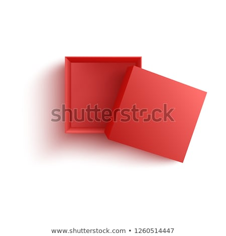 open box red cardboard vector container stock photo © olehsvetiukha