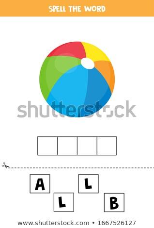 Spell English word football Stock photo © bluering