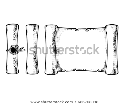 Set of vintage sealed scrolls with the messages isolated on white background. Invitation to a privat Stock photo © Lady-Luck
