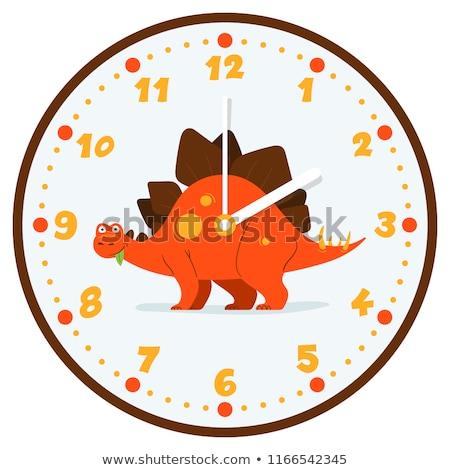 A dinosaur clock on white background Stock photo © bluering