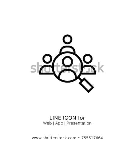 Lupa olhando alvo isolado ícone web negócio Foto stock © Imaagio