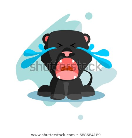 cartoon sad panther stock photo © cthoman
