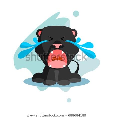 Cartoon Sad Panther Stock photo © cthoman