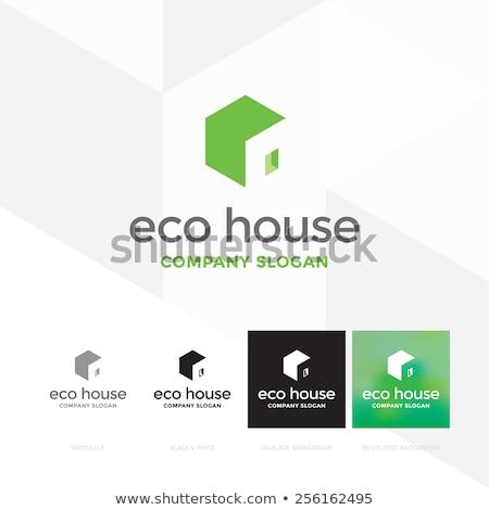 minimal logo of green light house vector illustration. Stock photo © Vicasso