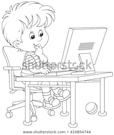 e is for educational game coloring book stock photo © izakowski