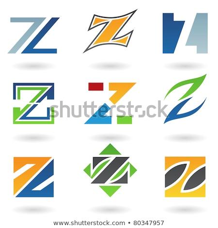 black z letter triangles geometric icon Stock photo © blaskorizov