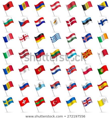Dois bandeiras Itália Grécia isolado Foto stock © MikhailMishchenko