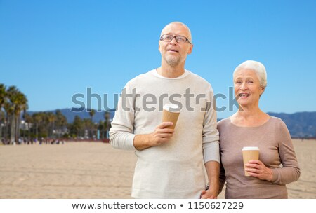 Kahve fincanları Venedik plaj seyahat Stok fotoğraf © dolgachov