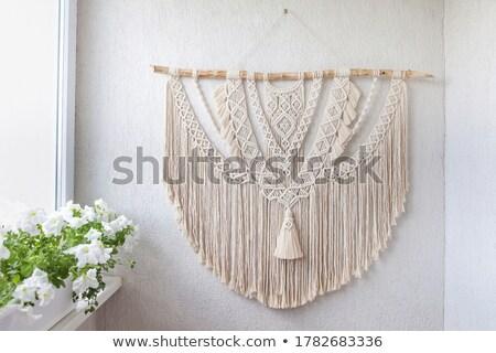 wykonany · ręcznie · poduszka · salon · dekoracji · tekstury · zielone - zdjęcia stock © dashapetrenko