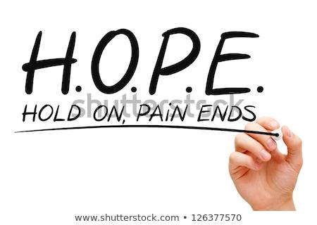 hoop · aanmoediging · een · pijl · centrum · target - stockfoto © ivelin