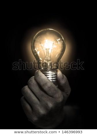 電球 · 暗い · 実例 · 孤立した · 黒 - ストックフォト © ra2studio