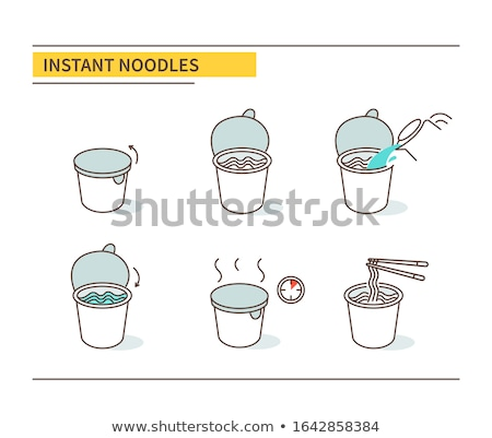 vector set of noodle stok fotoğraf © olllikeballoon