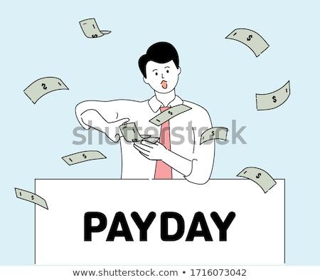 Bill pagamento design stile Foto d'archivio © makyzz