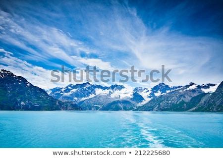 Hegyek óceán Alaszka félsziget kar felhők Stock fotó © wildnerdpix
