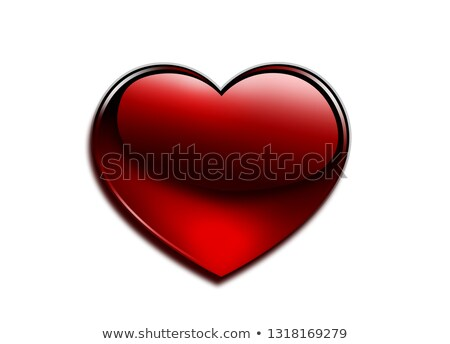 Semitransparent heart shape with reflection Stock photo © Arsgera