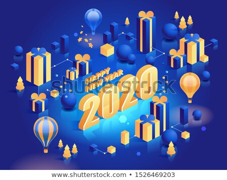 2020 decorated balloons banner vector stock photo © pikepicture