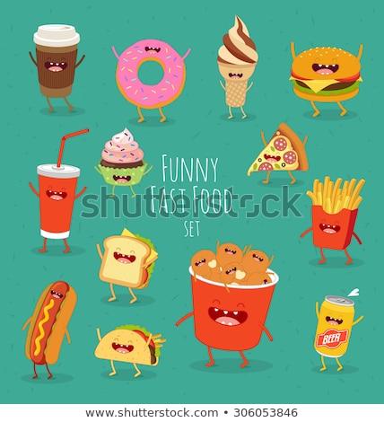 Burrito and Hot Dog Food Set Vector Illustration Stock photo © robuart