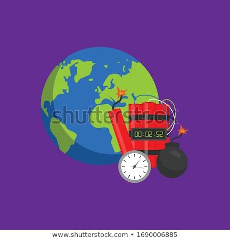 Czarny bomba ilustracja komiks palenie czerwony Zdjęcia stock © romvo