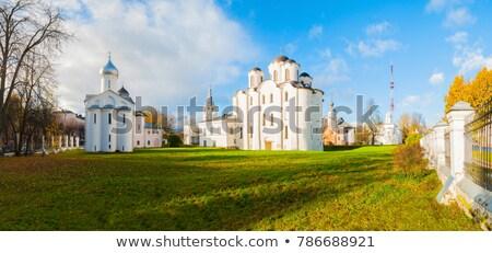 Kathedraal Rusland gewijd hemel kruis zomer Stockfoto © borisb17