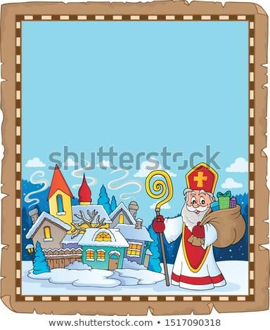 Saint Nicholas topic parchment 9 Stock photo © clairev