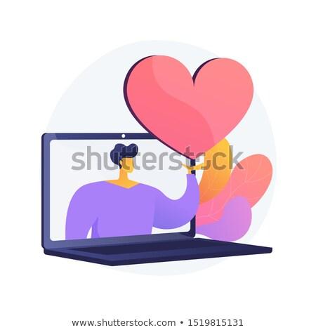 Online dating stronie wektora metafora Internetu Zdjęcia stock © RAStudio