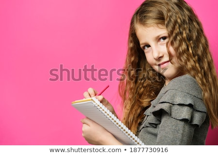мнение школьница Дать ноутбук глядя Сток-фото © wavebreak_media