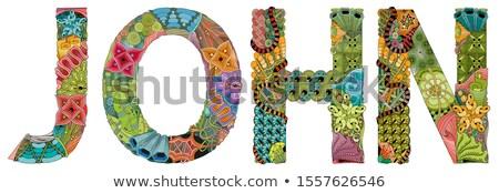 Male name JOHN. Vector decorative zentangle object Stock photo © Natalia_1947