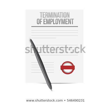 Documents About Termination Of Employment Over Wooden Desk Stock photo © AndreyPopov