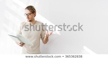 Hoogleraar onderwijs laser muziek man Stockfoto © ra2studio
