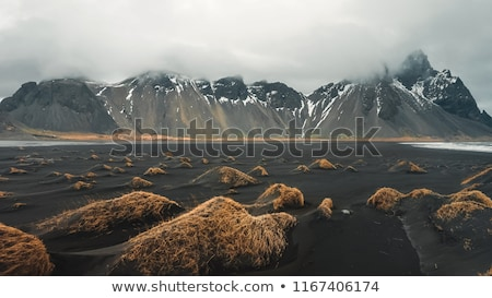 Seyahat İzlanda gezgin kadın ayakta siyah Stok fotoğraf © Anna_Om